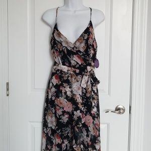 Floral Print Hi-Low Dress